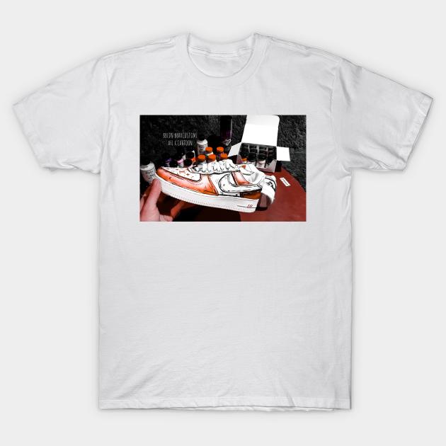 guirnalda demandante Formación  Cartoon Lv nike air force 1 sneaker t shirt - Custom Designed - Camiseta |  TeePublic MX