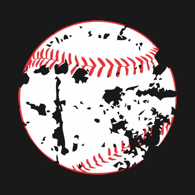 Baseball distressed.