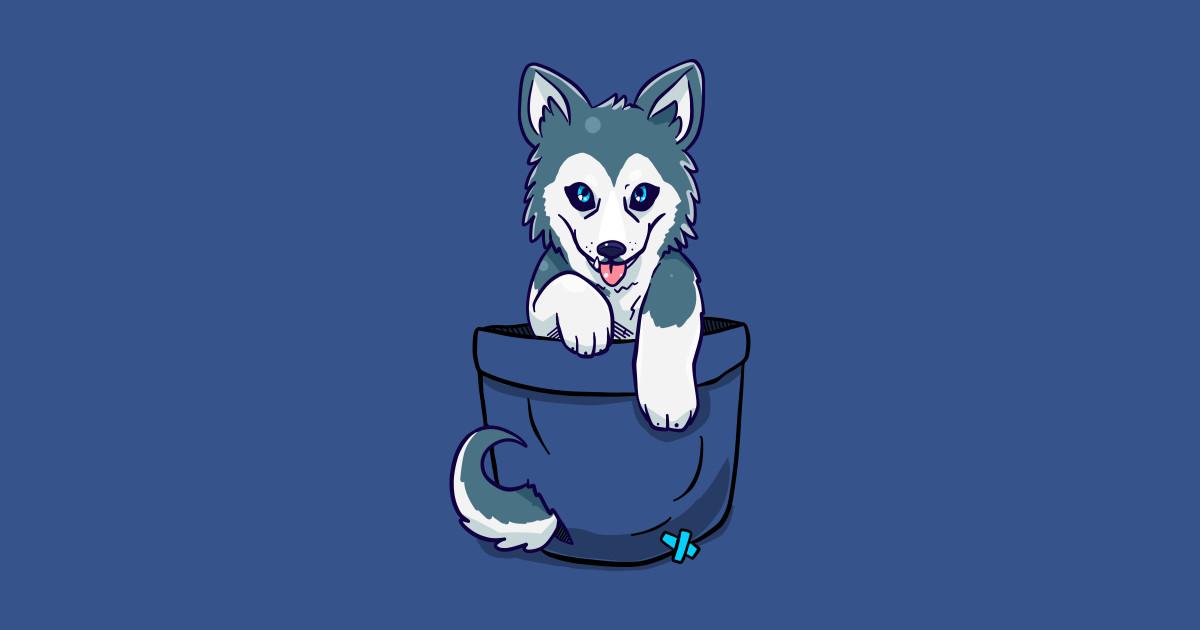 Pocket Cute Siberian Husky Siberian Husky T Shirt Teepublic