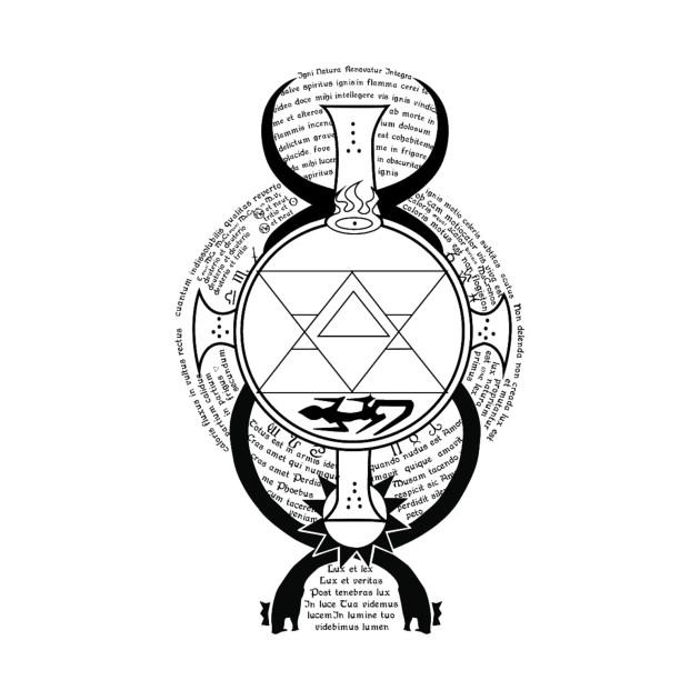 Flame alchemy fullmetal alchemist t shirt teepublic for Alchemy design t shirts