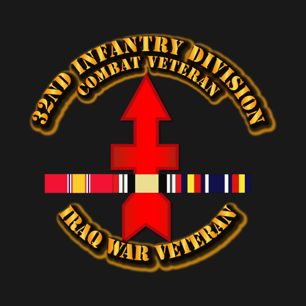32nd Infantry Division - Iraq Vet  w SVC Ribbons