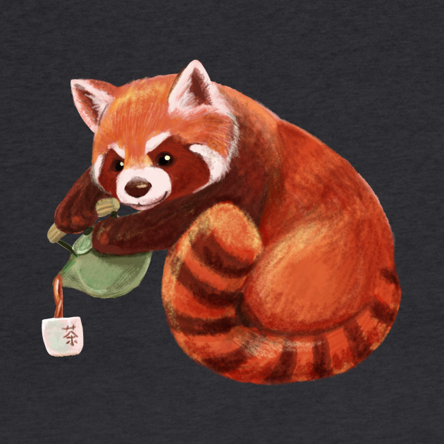 Red Panda Pouring Tea