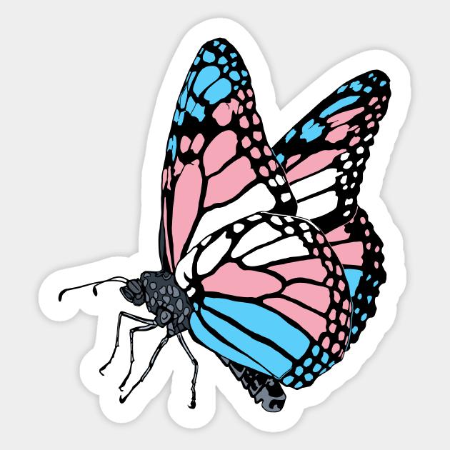 Aufkleber & Embleme 2 x Beautiful Transgender Butterfly Self ...