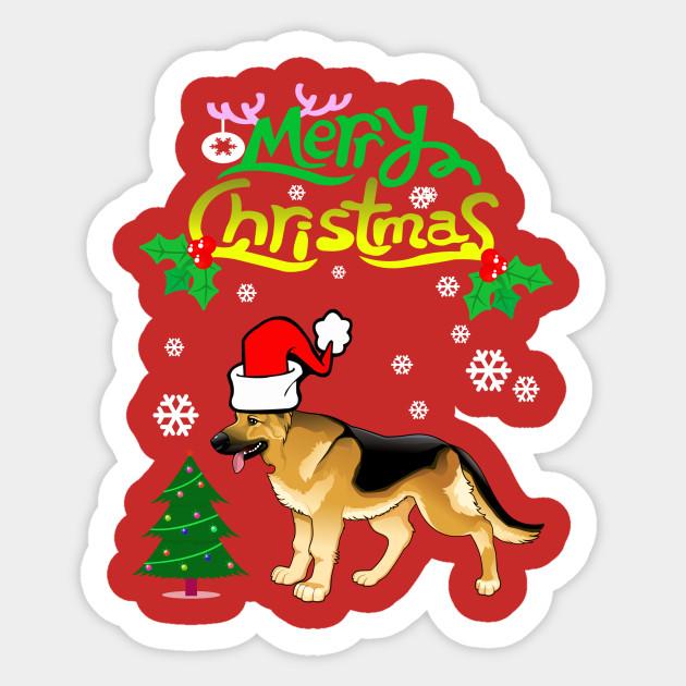 Merry Christmas In German.Merry Christmas German Shepherd