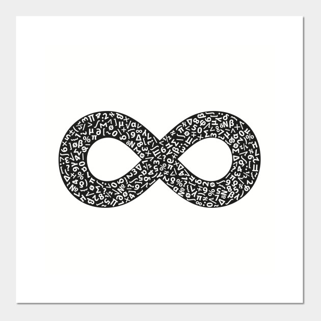 Infinity Symbol Black V2 Infinity Symbol Posters And Art Prints