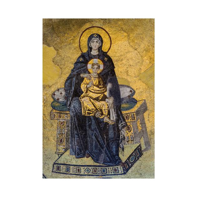 Virgin and Child mosaic (Apse of Hagia Sophia).