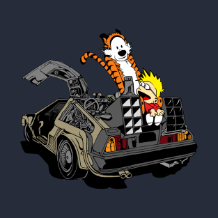 Calvin and Hobbes Back To The Future t-shirts