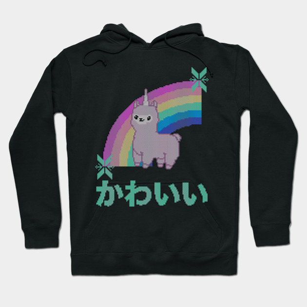 Christmas Sweaters Cute.Cute Llamacorn Rainbow Ugly Christmas Sweater Kawaii Knitted Design