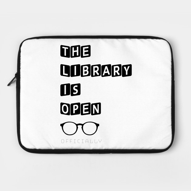 The Library Is Open Drag Queen Read Glasses Shade Catchphrase Tee