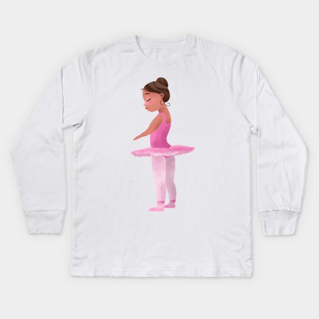 814c2928 Ballerina - Ballerina - Kids Long Sleeve T-Shirt | TeePublic