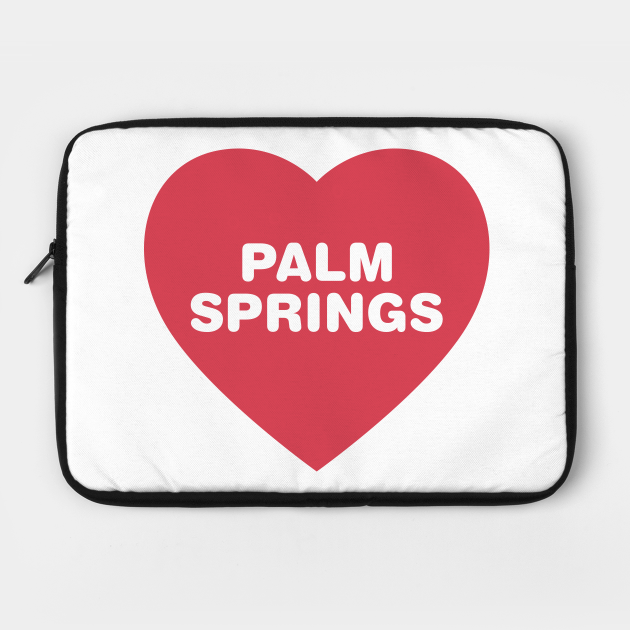 Palm Springs California Bold Red Heart