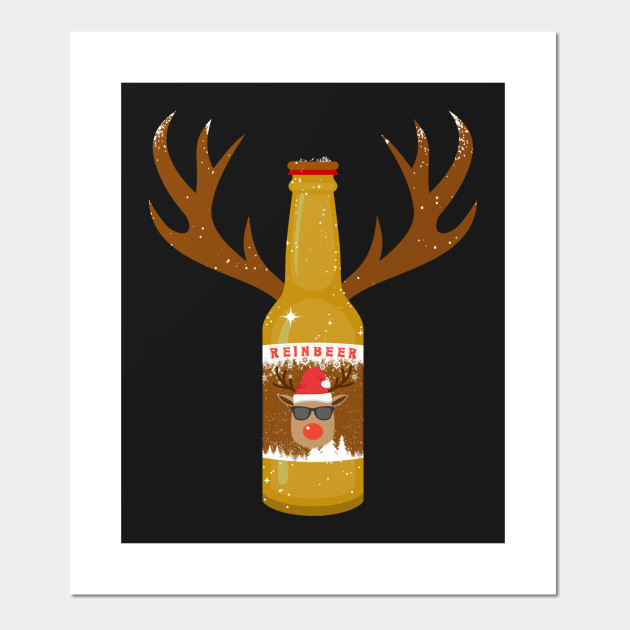 Reinbeer Funny Craft Beer Fans X-mas Gift Posters and Art Prints