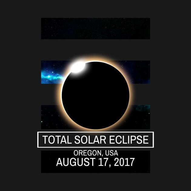 Oregon Eclipse 2017 U.S.A Solar Eclipse Blackout T-shirt