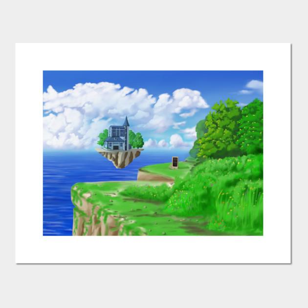 Flying Island Fantasy Art