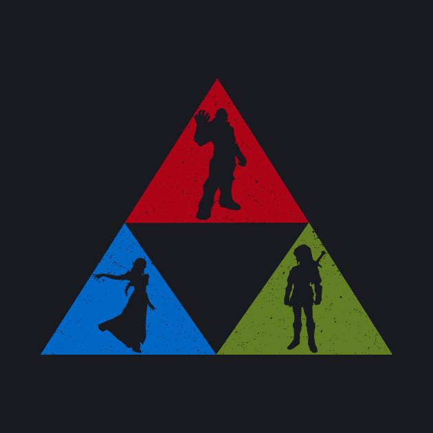 Zelda Triforce- Courage, Power, Wisdon