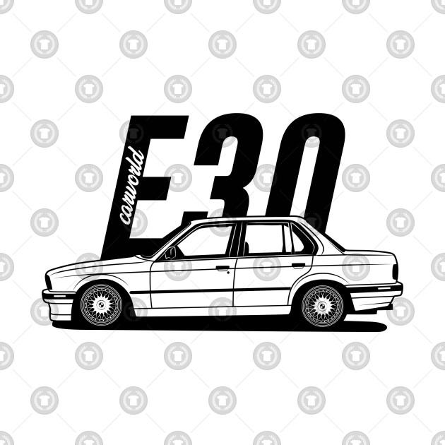 BMW E30 Sedan Side Best Shirt Design