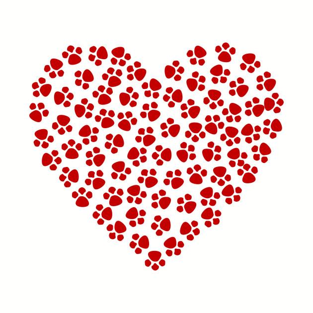 Pawprint Heart