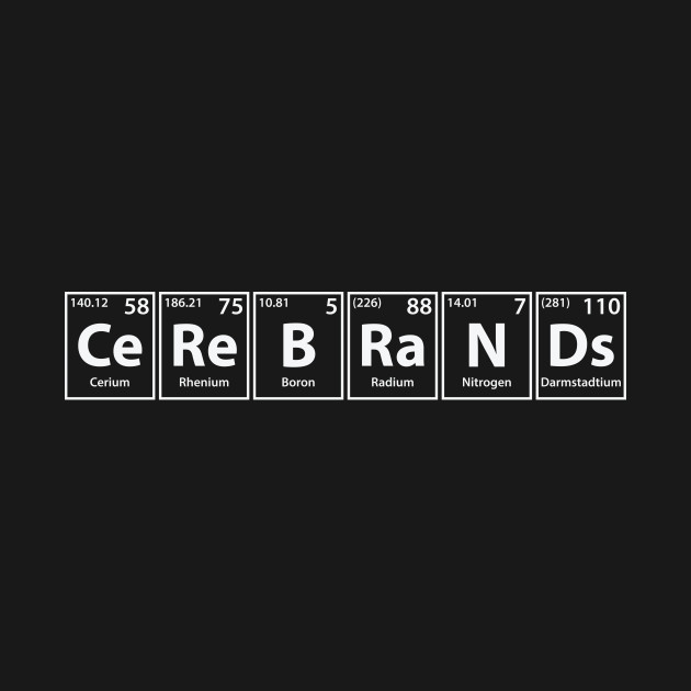 Cerebrands (Ce-Re-B-Ra-N-Ds) Periodic Elements Spelling