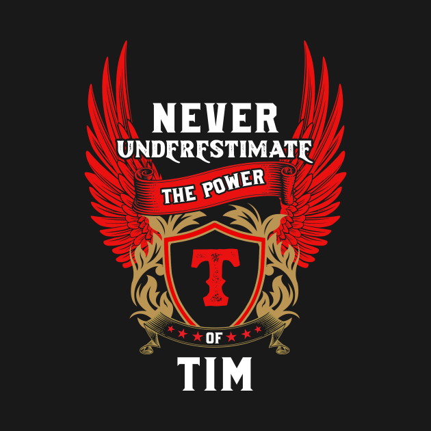 Never Underestimate The Power Tim - Tim First Name Tshirt Funny Gifts