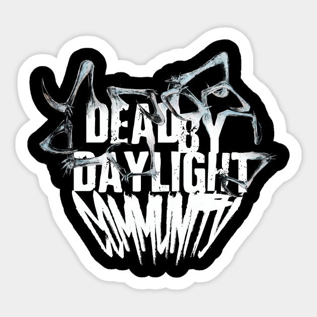 Dead By Daylight Community Logo White Dead By Daylight Aufkleber Teepublic De Here you can explore hq dead by daylight transparent illustrations, icons and clipart with filter setting like size, type, color etc. teepublic