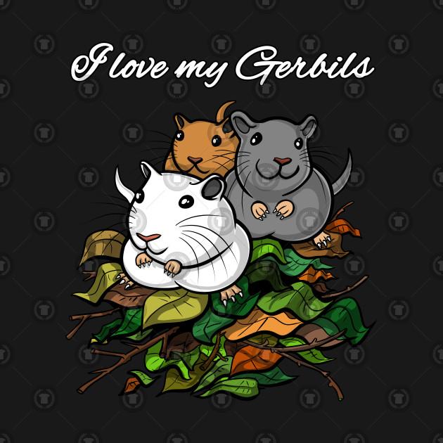 I Love My Gerbils Shirt For Kids Pet Lovers