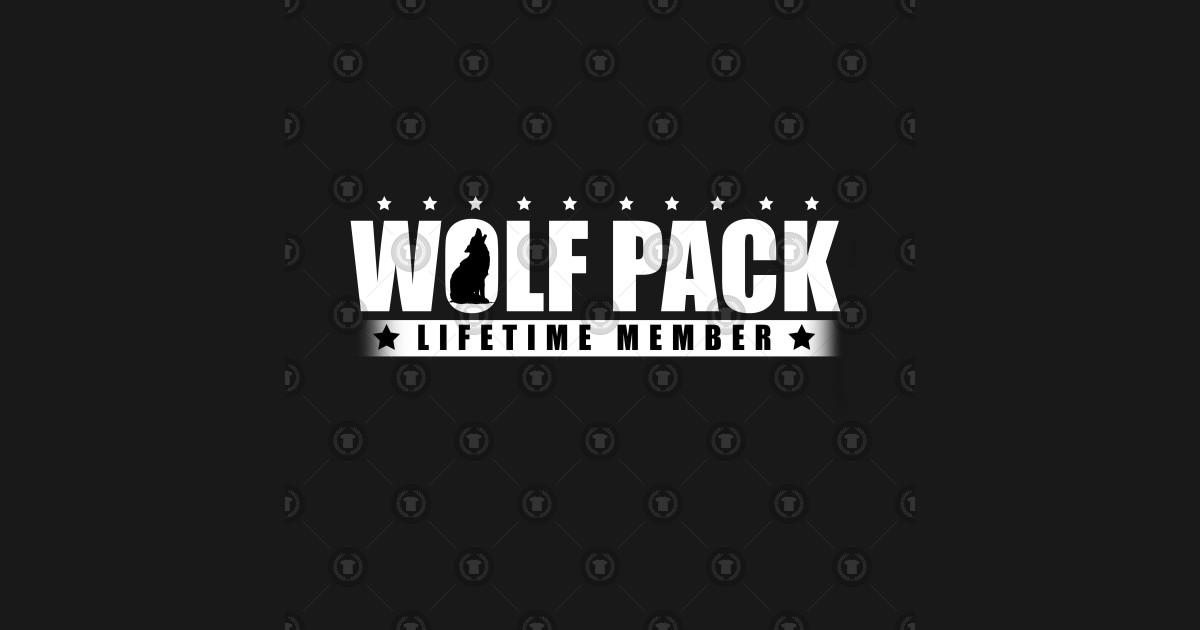0a6f12071 Wolf Pack Lifetime Member Wolves Alpha Carnivore Mammals Fur Animals  Wildlife Forest Nature Kids T-Shirt