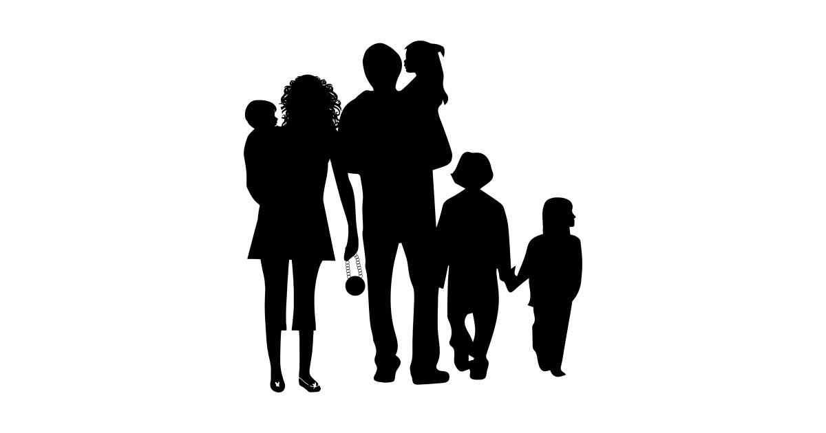 Image result for Happy family silhouette