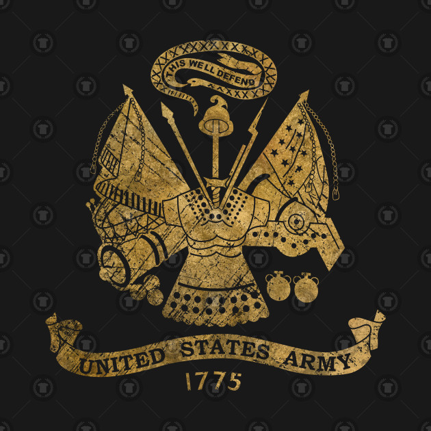 b11d04704ac65 Vintage US golden Army Coat of Arms - Us Army - Tank Top