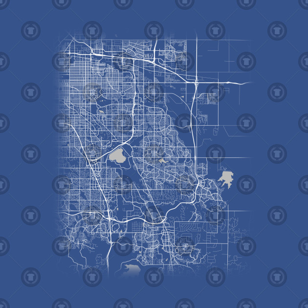 Minimal Aurora Colorado City Map