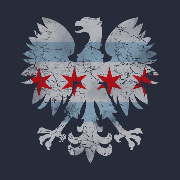 Vintage Chicago Flag Polish Eagle Heritage