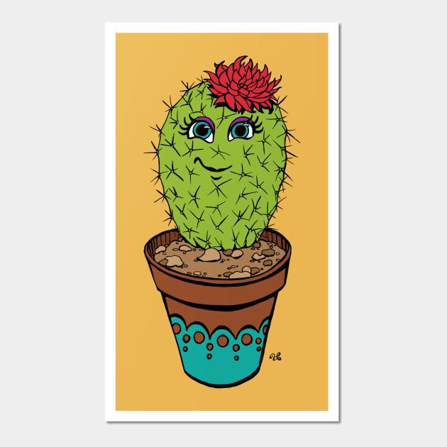 Cactus Blossom - Cactus - Wall Art   TeePublic