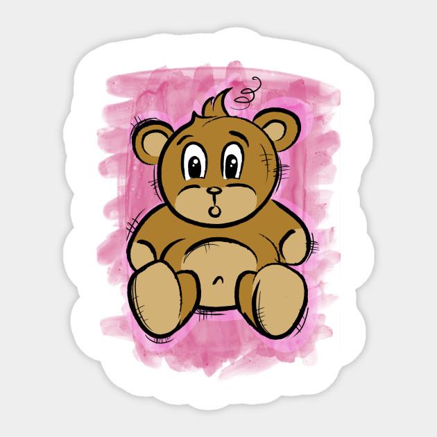 teddy bear teddy bear sticker teepublic