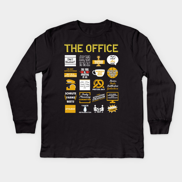 792e4d3a3 The Office Quote Mash-Up Funny T-Shirt - Official Tee Kids Long Sleeve T- Shirt