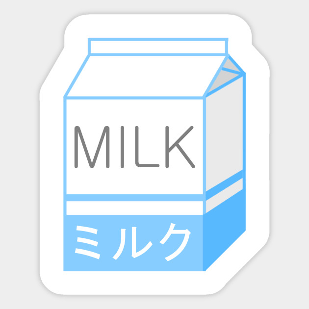 photo regarding Aesthetic Stickers Printable named Milk
