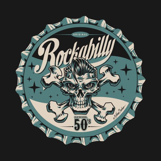 Rockabilly bagde