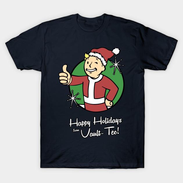 Vault Tec Christmas Sweater.Happy Holidays From Vault Tec