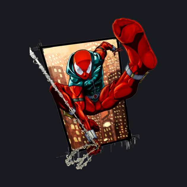 Scarlet Spider out of panel
