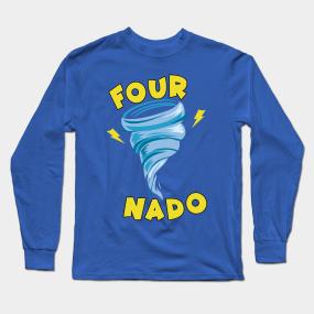 Main Tag Fournado 4 Year Old Kids Birthday Long Sleeve T Shirts