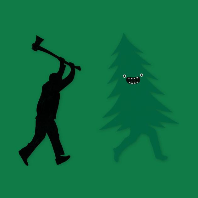 909ffc83b Funny Christmas Tree Hunted by lumberjack (Funny Humor) - Ax - Kids ...