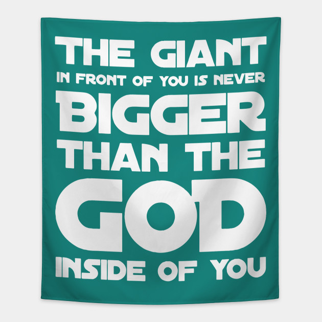 godly faithful quote gift for religious person bigger god bible