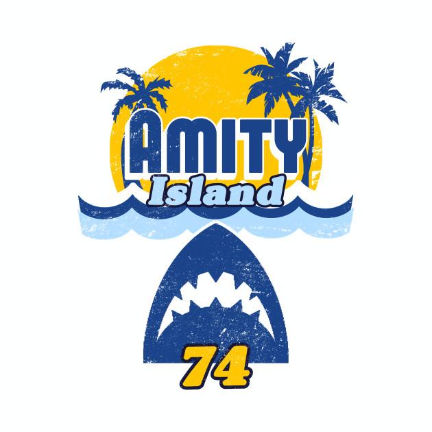 Amity Island 74 (distressed style)