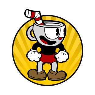 cuphead circle t-shirts