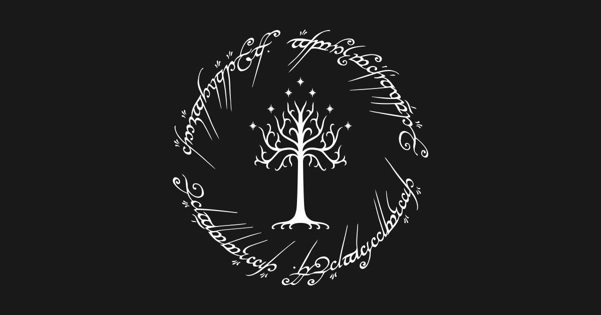 Tree Of Gondor White The Lord Of The Rings T Shirt