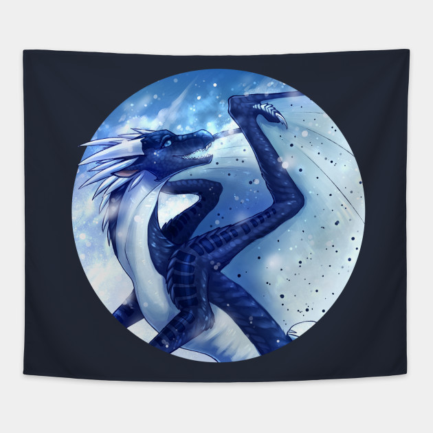 Wings Of Fire Whiteout The Icewing Nightwing Hybrid Whiteout Tapestry Teepublic