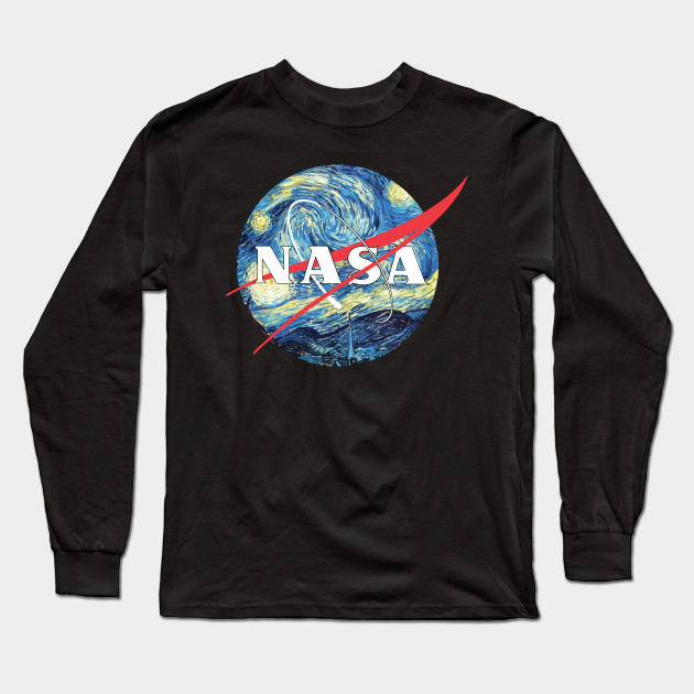 bc14a96c The Starry NASA - Van Gogh - Long Sleeve T-Shirt | TeePublic