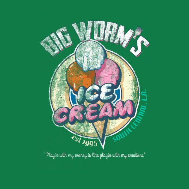 Big Worm's Ice Cream, distressed