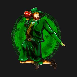e02d9ad29dd Leprechaun Irish Basketball Player St Patrick s Day T-Shirt. by adjua