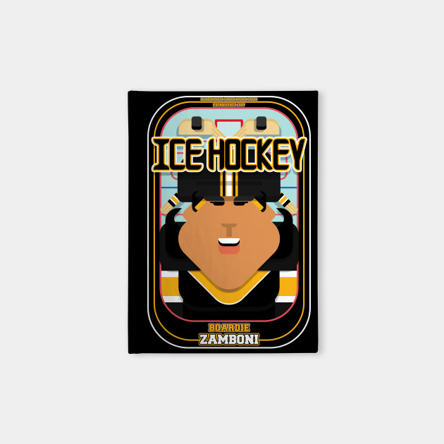 Ice Hockey Black and Yellow - Boardie Zamboni - Indie version