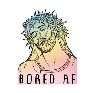 Bored AF Jaded Hipster Jesus Tee t-shirts