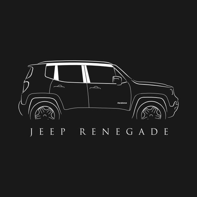 Jeep Renegade Stencil Renegade TShirt TeePublic - Jeep t shirt design